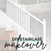 how to update staircase railing