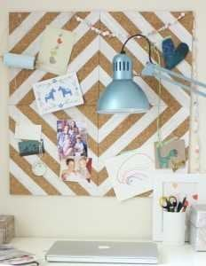 Painted Cork Board Tiles
